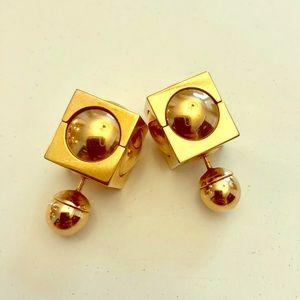 Dior Gold Tone Earrings